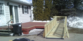 ramp attached to deck